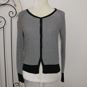 Worthington striped cardigan small